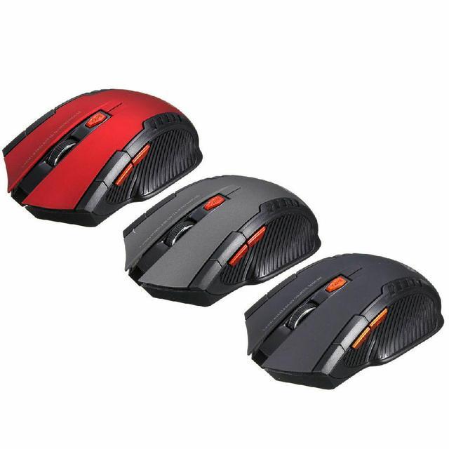 Mini ratón óptico inalámbrico para juegos, Mouse inalámbrico con receptor USB para Juegos de PC, portátiles, ordenador, r57, 2,4 GHz 4