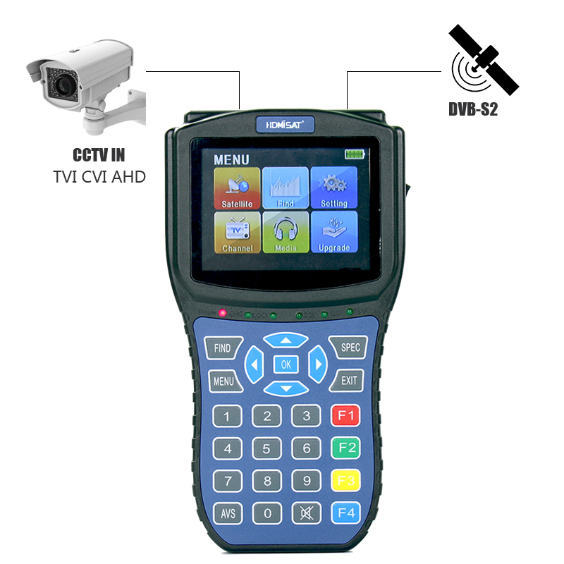 HD Digital Satellite finder Meter  Support Satellite Reciever DVB S2 Satfinder CCTV TEST TVI/CVI/AHD Input HDMI Sat Finder|Satellite TV Receiver| |  - title=