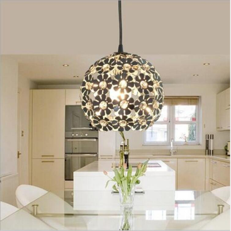 Fashion Four Color Crystal Pendant Lights Led Lamps Aluminum Pendant Lamps Free Led Bulbs E27 Led Lustre Light Pendant Lamp Z15 High Quality Goods Lights & Lighting Pendant Lights