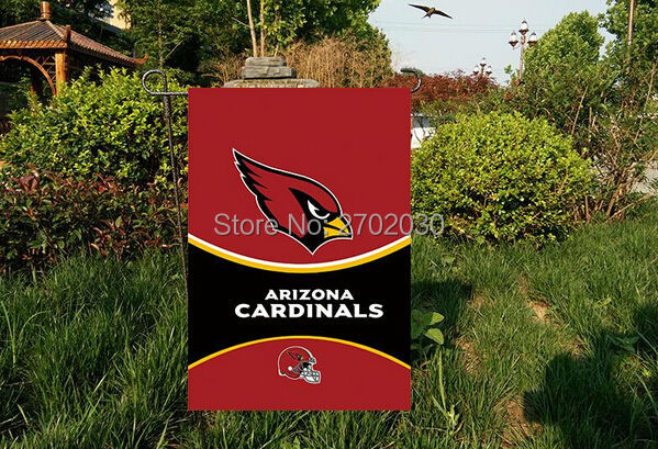 Arizona Cardinals Garden flag kintted polyester double sides 13X18 custom designed flag Indoor Outdoor Home Decor