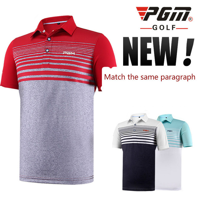5ae95a21 2018 PGM Golf Shirts Summer Breathable Quick-drying Absorb sweat Short  Sleeve Shirt for men