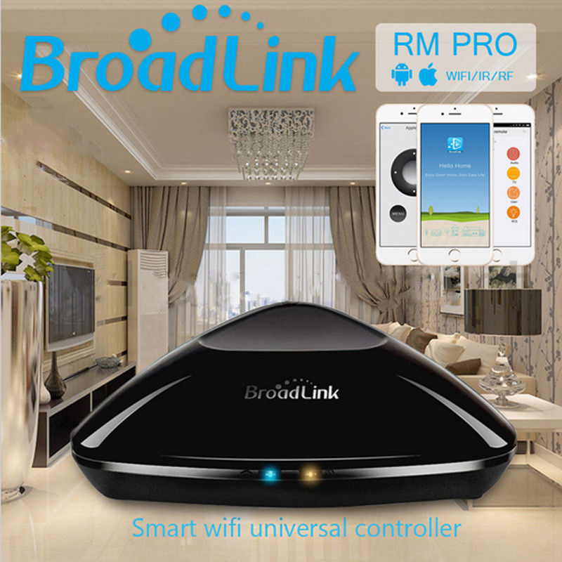 NEW Broadlink RM2 RM Pro smart home wireless remote Automation Intelligent controller WIFI+ IR+ RF Switch for IOS android phone broadlink rm2 rm pro universal intelligent remote switch smart home automation wifi ir rf switch via ios android phone