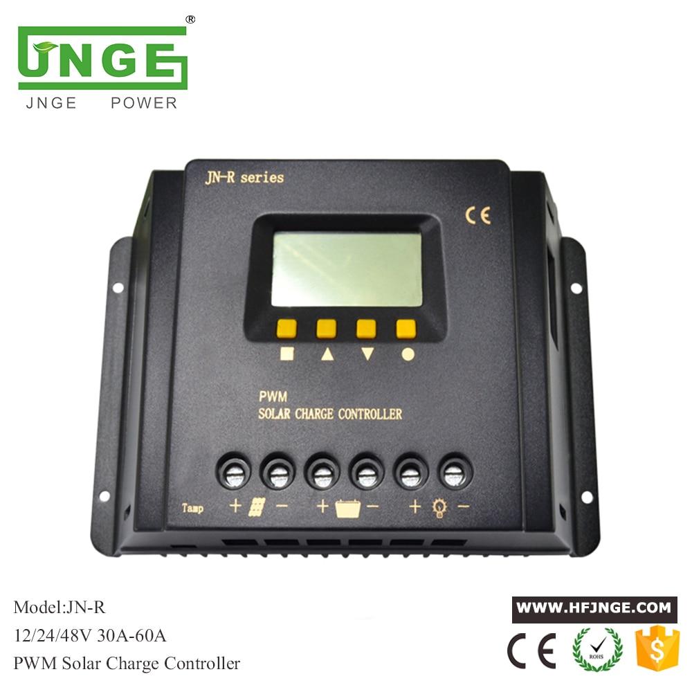 JN-R 30A-60A LCD PWM contrôleur de Charge solaire 12 V/24 V/48 V régulateur de panneau solaire lumière LED automatique PV contrôleur de Charge de batterie
