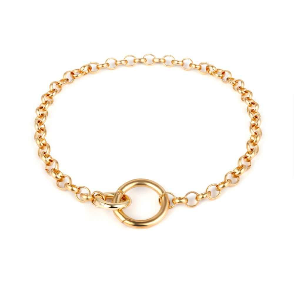 Ingemarca colar punk miami cubano, gargantilha hip hop jóias 2019 corrente de ferro grosso colar de círculo mulheres acessórios de pescoço