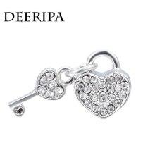 Antique Silver Color Bead Charm European Love Lock Owl Flower Crown Charms Beads Fit Pandora Bracelet Bangle DIY Woman Jewelry