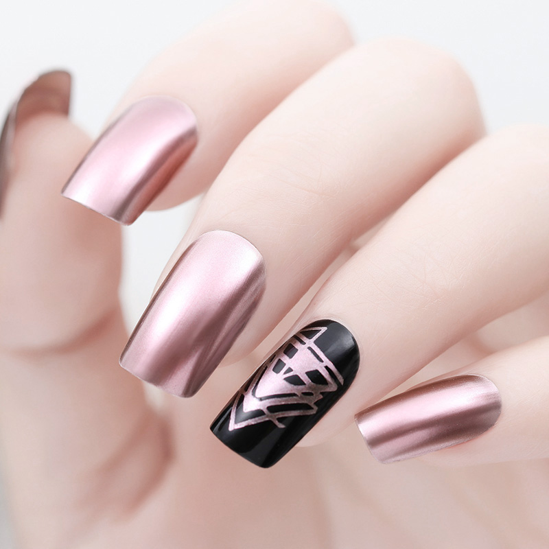 BORN PRETTY 9ml Nail Polish Mirror Effect Metallic Lacquer Purple Rose Gold Silver Chrome Art Varnish In From Beauty Health On