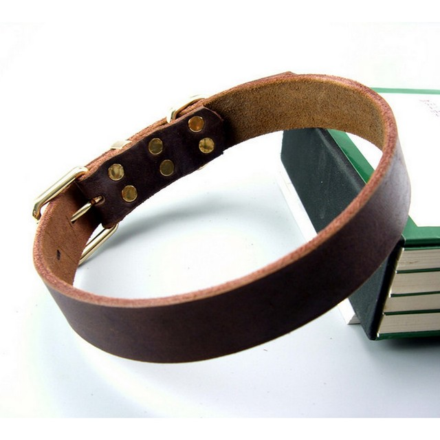 Leather Pet Dog Collar For Big Dog High Quality Pet Products Dog Pet Collar Genuine Leather Collar 11654