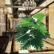 50cm Latex Artificial Plant Taro Fake Tree Greenery Faux Plants Wedding Home Garden furniture Decor Green