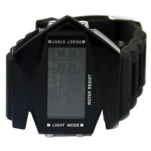 Cool Men's Oversized Design Light Digital Sports Plan Shaped Dial Wrist Watches 15
