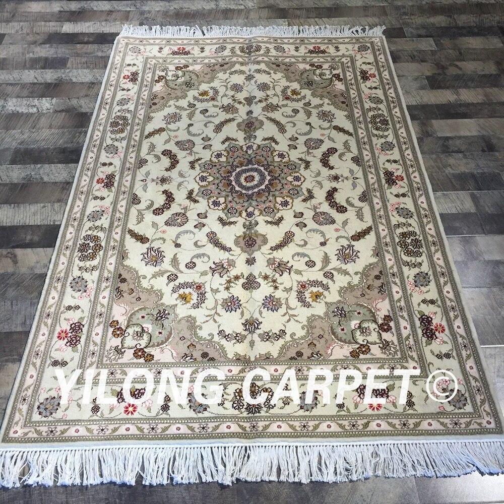 Yilong 4'x6 'fait main mince doux maison laine soie tapis persan design de haute qualité!! Tapis en laine (WY2058S4x6)