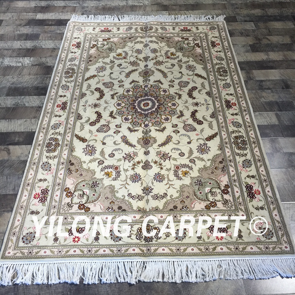 Thin Soft Home Wool Silk Rugs Persian