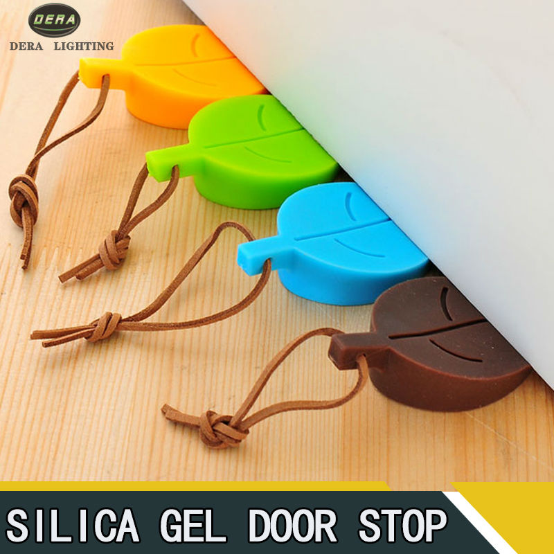 Free shippingCreative Leaf Shape Hand Baby Safety Door Stop Gate Card Silicone Doorstop Door Stopper Blocking Protector For Kids