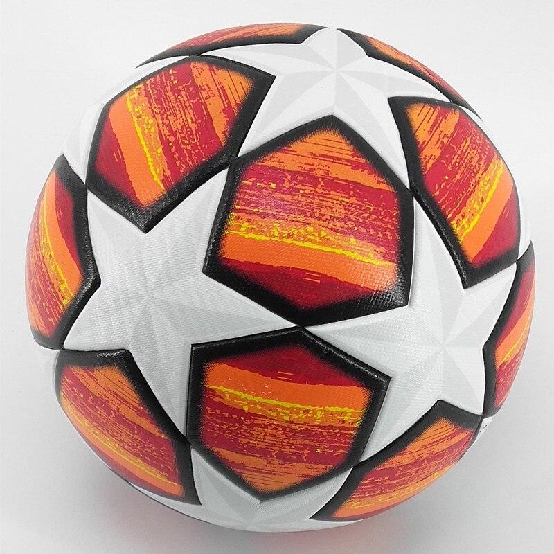 2019 UM ++ 18 19 Madrid Bola De Futebol Da Liga Vermelha 19 Final Bolas de PLUTÔNIO de alta qualidade sem costura colar da pele de futebol tamanho bola 5