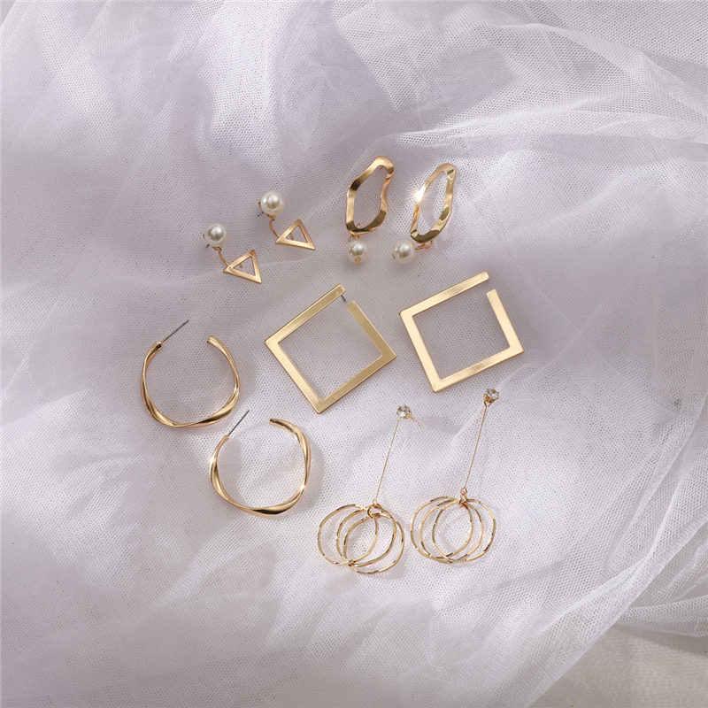 Brincos femininos ouro prata, pedras cristais pérola flor gota brincos
