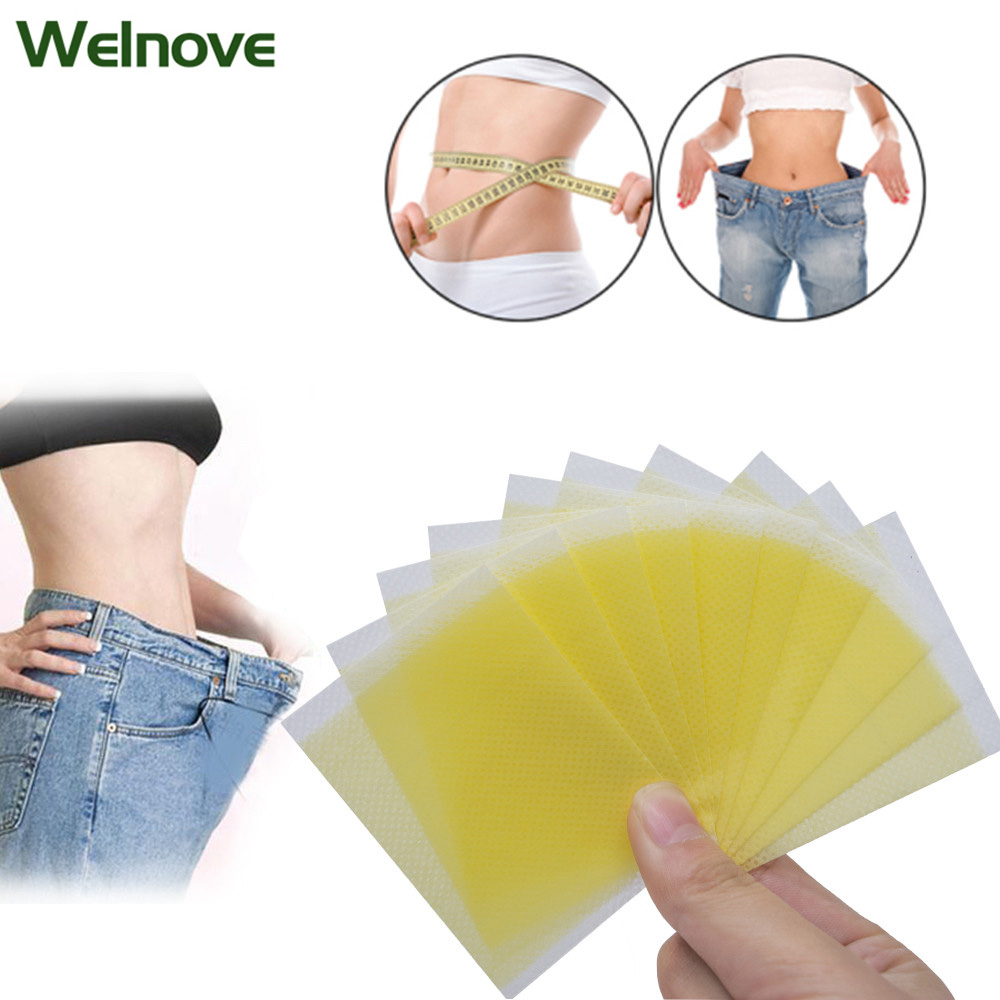 10Pcs Weight Lose Paste Navel Slim Patch Burning Fat Slimming Patch Effective Slim Stickers Health Care Z46101