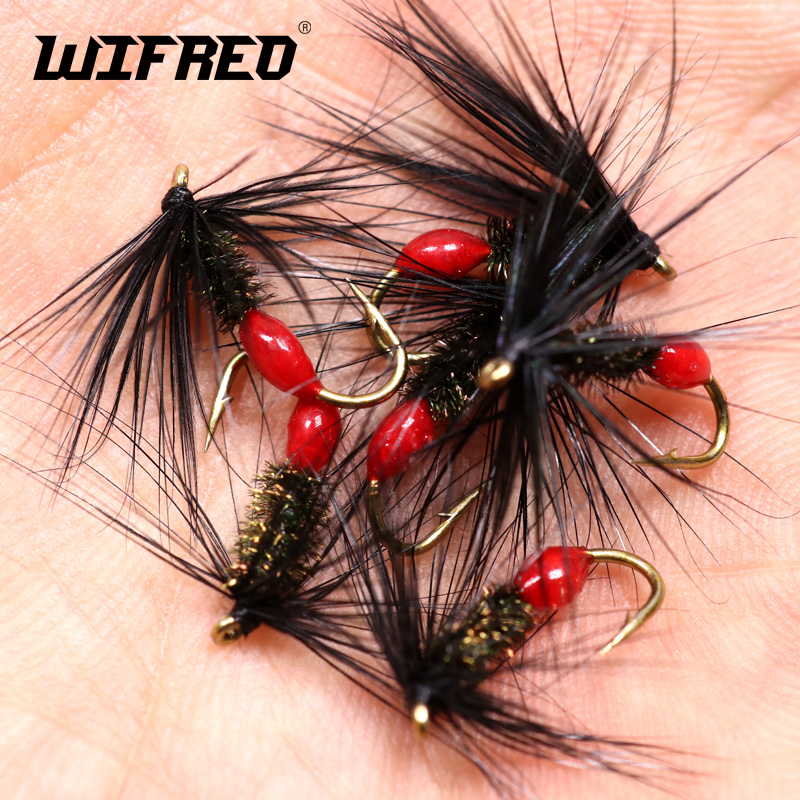 Salmon Bass 6 x Red Ibis Red Spinner Dry Fly Fishing Flies For Trout