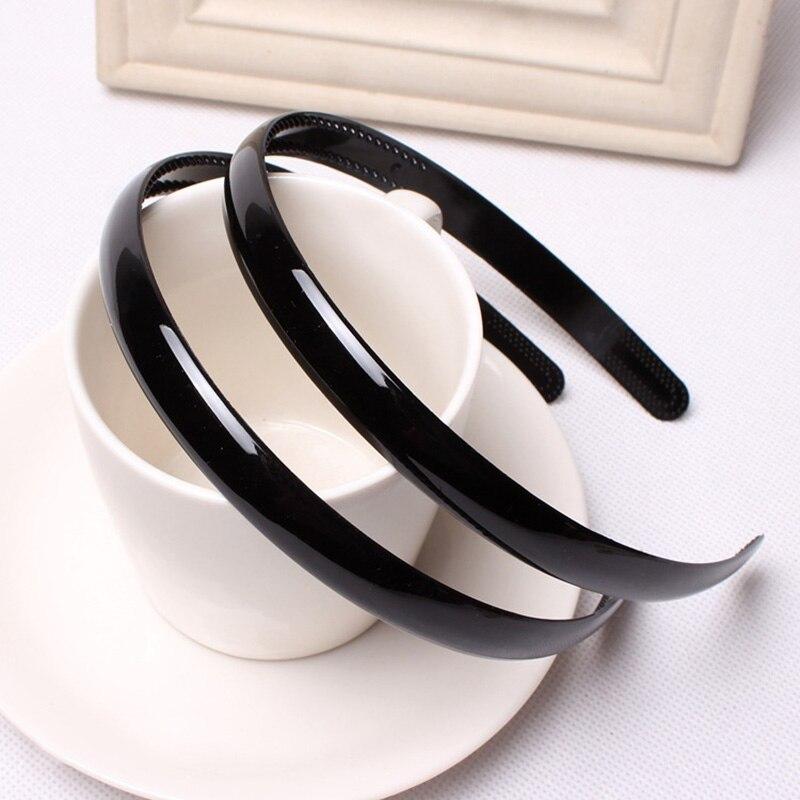 Plain Children Plastic Hair Band Black Teeth Kids Headbands   Headwear   Girls Hair DIY Tool Accessories Size Wide 1.2 Cm