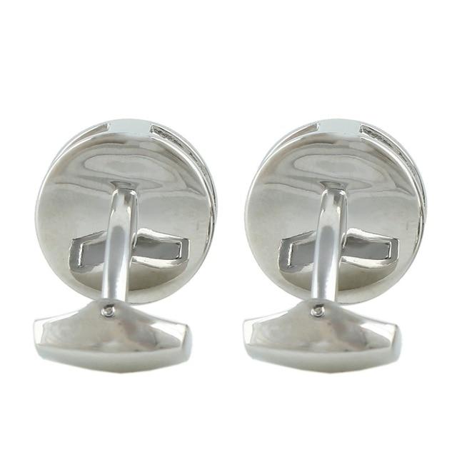 BELLA Fashion Stainless Steel Wheel Gear Cuff Links