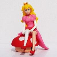 Принцесса Персик 20 см Super Mario Bros Принцесса Персик Сидит Гриб Фигурку Super Size Рисунок Коллекция