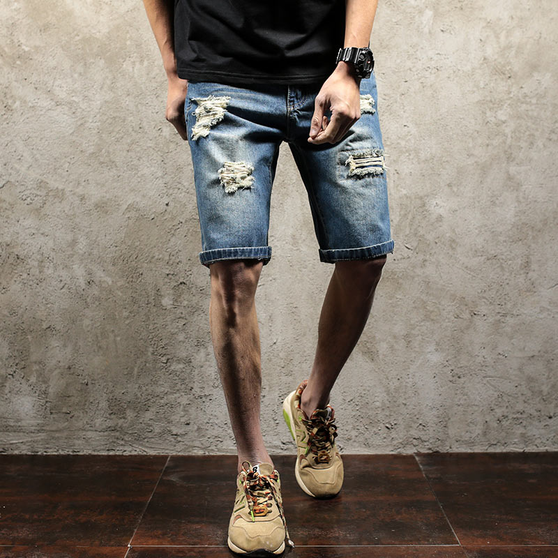 Online Get Cheap Denim Shorts Men Hip Hop -Aliexpress.com ...