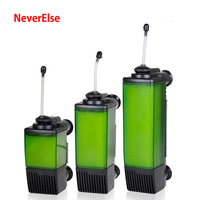 3in1 Submersible Water Internal Filter Pump for Fish Tank, Aquarium Filter Air Pump to Increase Air Oxygen Low Water Filtration