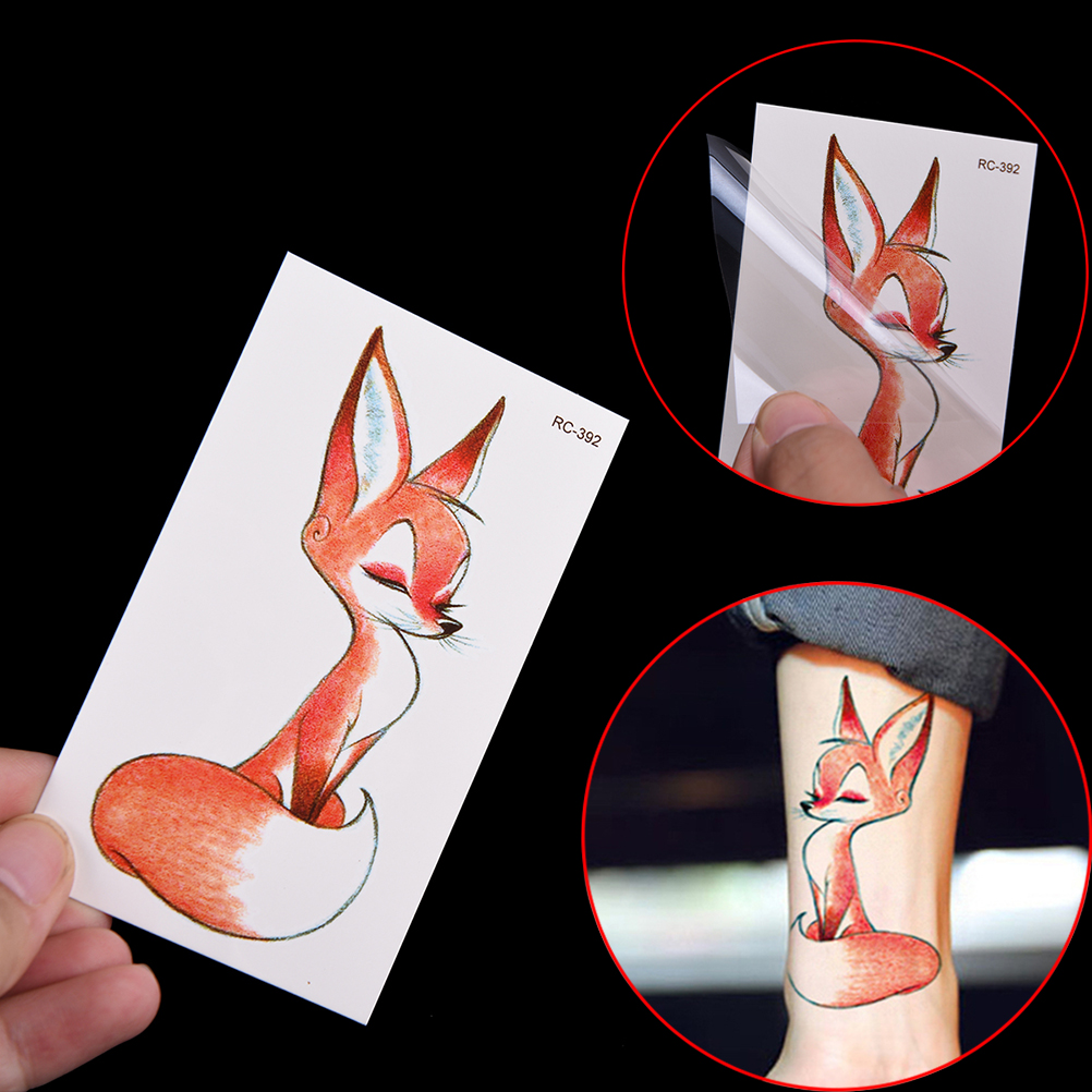 Waterproof Fox Sexy Harajuku Temporary Tattoo Body Art Fake Flash Tattoo Stickers