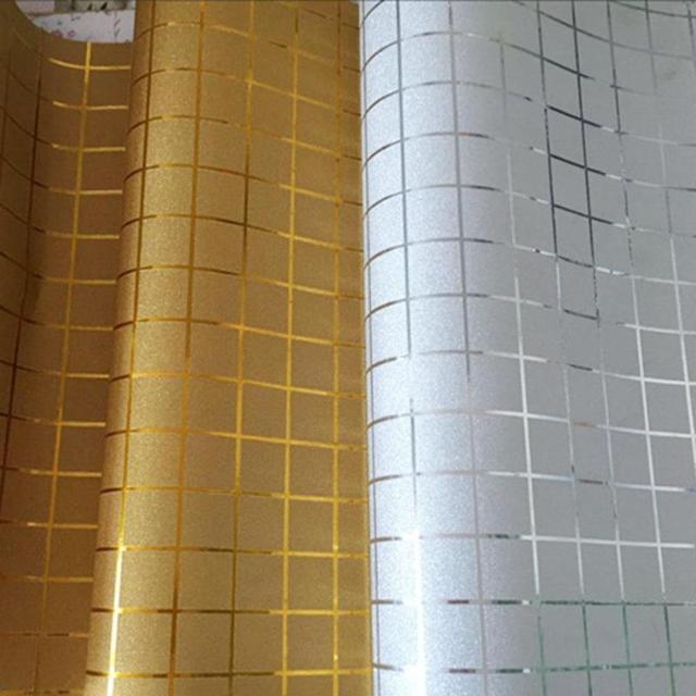 PVC Wasserdichte Wandaufkleber Dekoration Zubehör Mosaik Goldene Splitter  Hintergrund Wohnzimmer Dekor Aufkleber Wand Papier