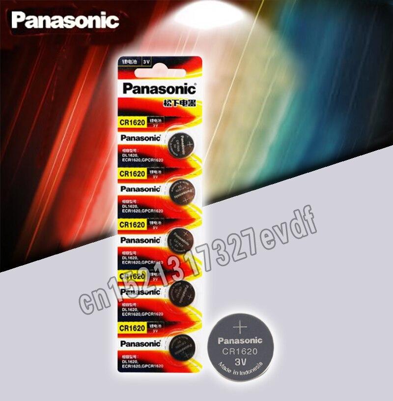 Оригинальный продукт Panasonic 5 шт./лот cr1620 кнопочные Аккумуляторы для часов 3 В литиевая батарея CR 1620 пульт дистанционного управления калькулятор