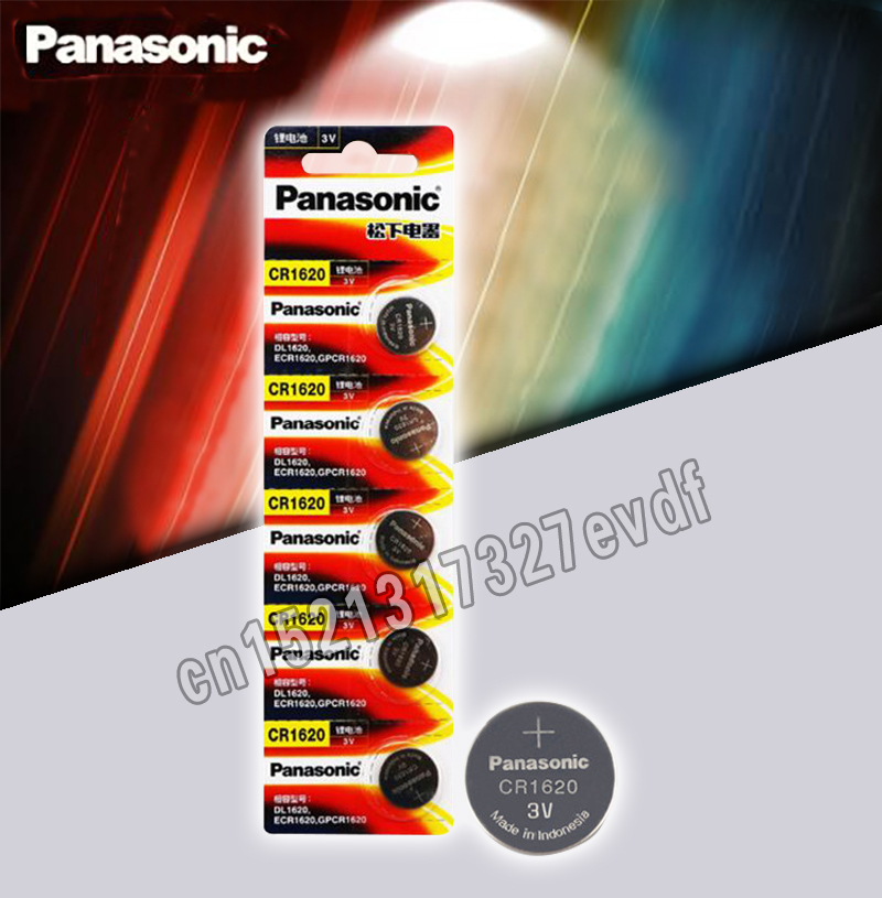 Panasonic Original Product 5Pcs/Lot Cr1620 Button Cell Batteries For Watch 3V Lithium Battery CR 1620 Remote Control Calculator