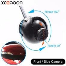 XCGaoon T8 mini CCD 140 Graus Wide Angle À Prova D' Água Verdadeiro Lateral Dianteira Do Carro Visão Da Câmera, 4 Camadas de Vidro Da Lente, nenhuma Linha De Estacionamento