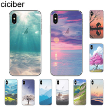 ciciber Landscape Ocean Forest Snow Mountain Cover For iPhone 11 Pro Max X XR XS MAX 7 8 6 6s Plus 5 5S SE Phone Cases Soft TPU