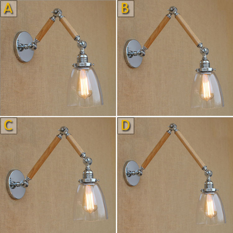 Wood wall sconces antique loft loft industrial wall for Luminaires appliques murales