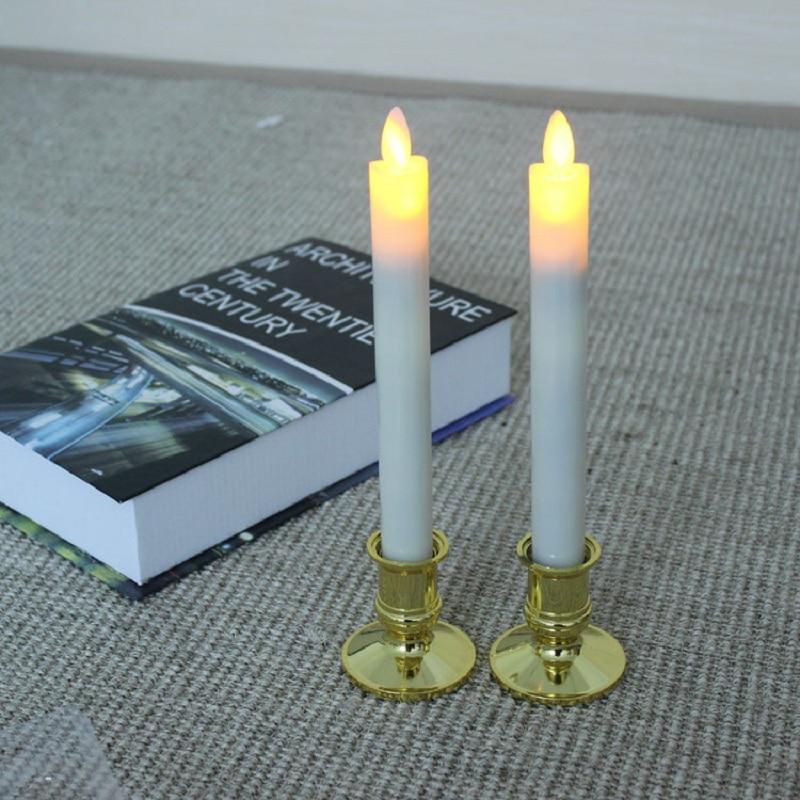 un par de larga polo emulacin electrnica lmpara de la vela del led sin llama velas