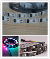 5M/lot 32LEDS 32 IC WS2801 5050 RGB LED Strip Individual Addressable 5V White PCB NP WS2801 LED Flexible Strip No-waterproof