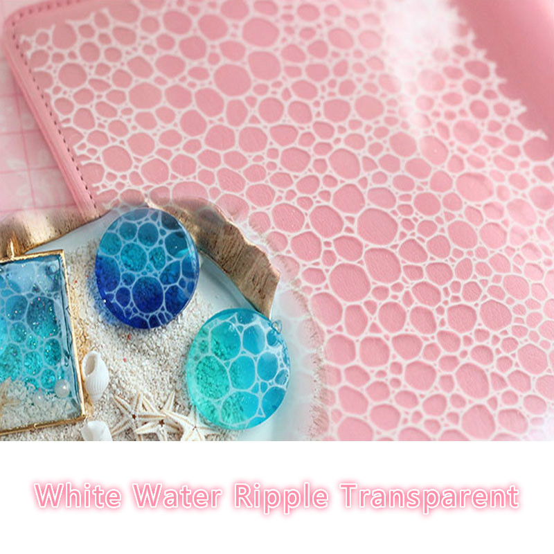 1 pièces époxy résine moule bijoux outils de remplissage matériel blanc eau ondulation Transparent pour faire des bijoux