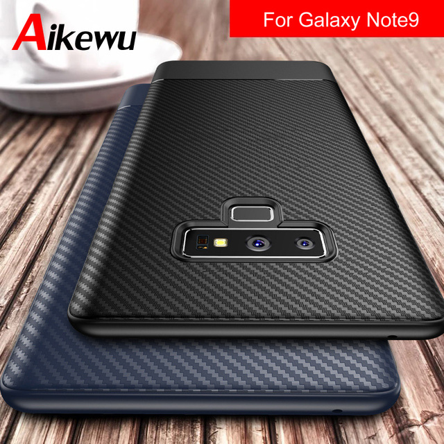 another chance b47f9 3389e US $3.24 35% OFF|Aikewu Case For Samsung Galaxy Note 9 Case Soft Silicone  Carbon Fiber Shockproof Back Cover For Samsung Galaxy Note 9 Note9 Case-in  ...