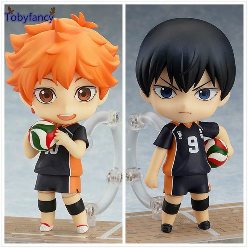 Tobyfancy Haikyuu Action Figures Nendoroid Hinata Syouyou kageyama tobio Figure PVC 10CM Anime Volleyball Figures Haikyuu anime haikyuu high school volleyball