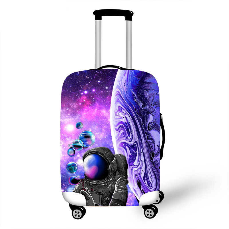 18-32 Inch Printed Galaxy Suitcase Protective Cover For Girl Boy Travel Luggage Dust Cover Suitcase Elastic Protective Cover
