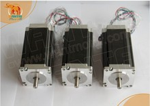 3 PCS Nema 23 stepper motor 425oz-in,4.2A,2phase,1.8degree ,WT57STH115-4204A, CNC Engrave www.wantmotor.com
