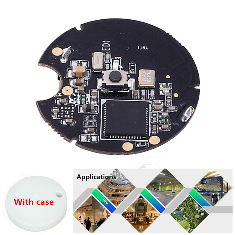 NRF51822 2V-3.3V Bluetooth 4.0 Wireless Module For IBeacon Base Station Intelligent Control System Beacon BLE Module 4MA W/ Case