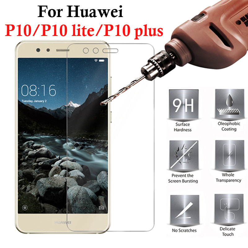 Image 5 - protective glass on for huawei p10 lite glass  p 10 plus p10lite p10plus 10p huawey screen protector tempered glas film tremp-in Phone Screen Protectors from Cellphones & Telecommunications