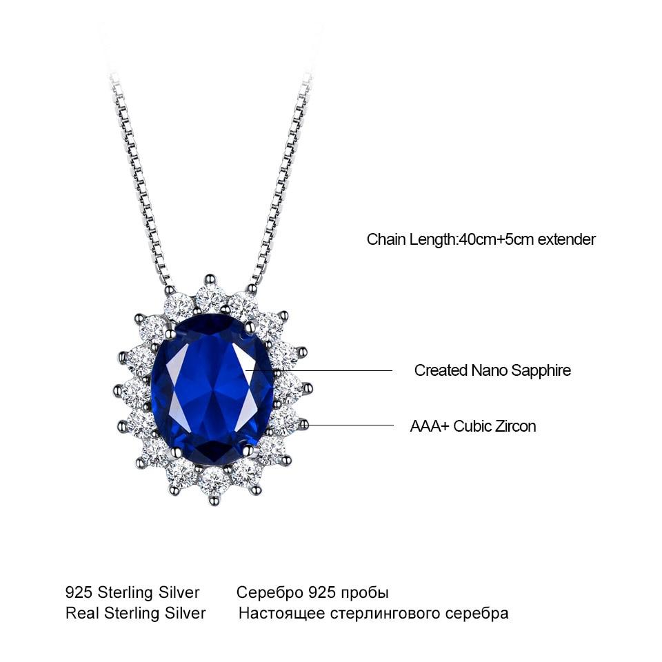 UMCHO 10 * 8mm Blue Sapphire Ogrlice i Privjesci 925 Sterling Silver - Fine nakit - Foto 5