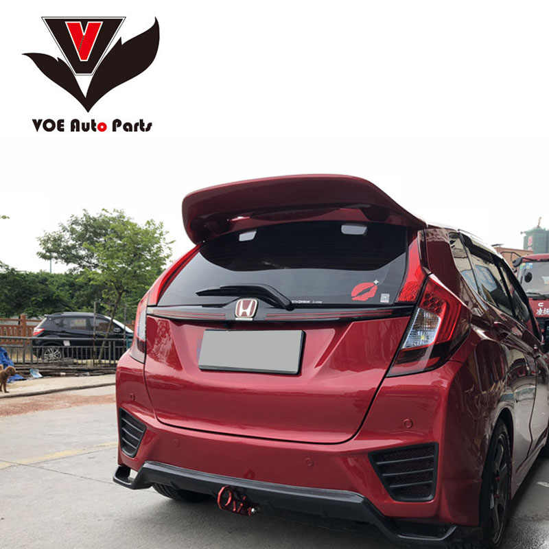 Fit/JAZZ JDM-style Sporty ABS Carbon Fiber Car-styling Rear Window Spoiler for Honda Fit/JAZZ 2014 2015 2016 2017 2018 2019
