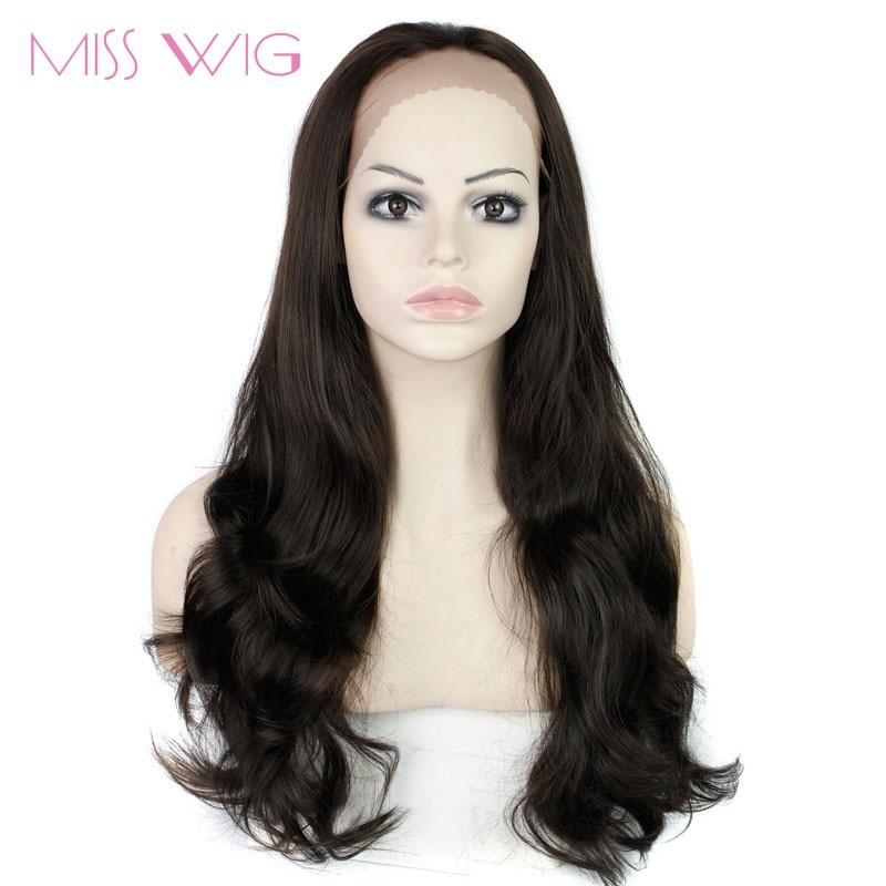 Perruques longues ondulées de perruque avant de dentelle de MISS Wig pour les femmes noires résistantes à la chaleur