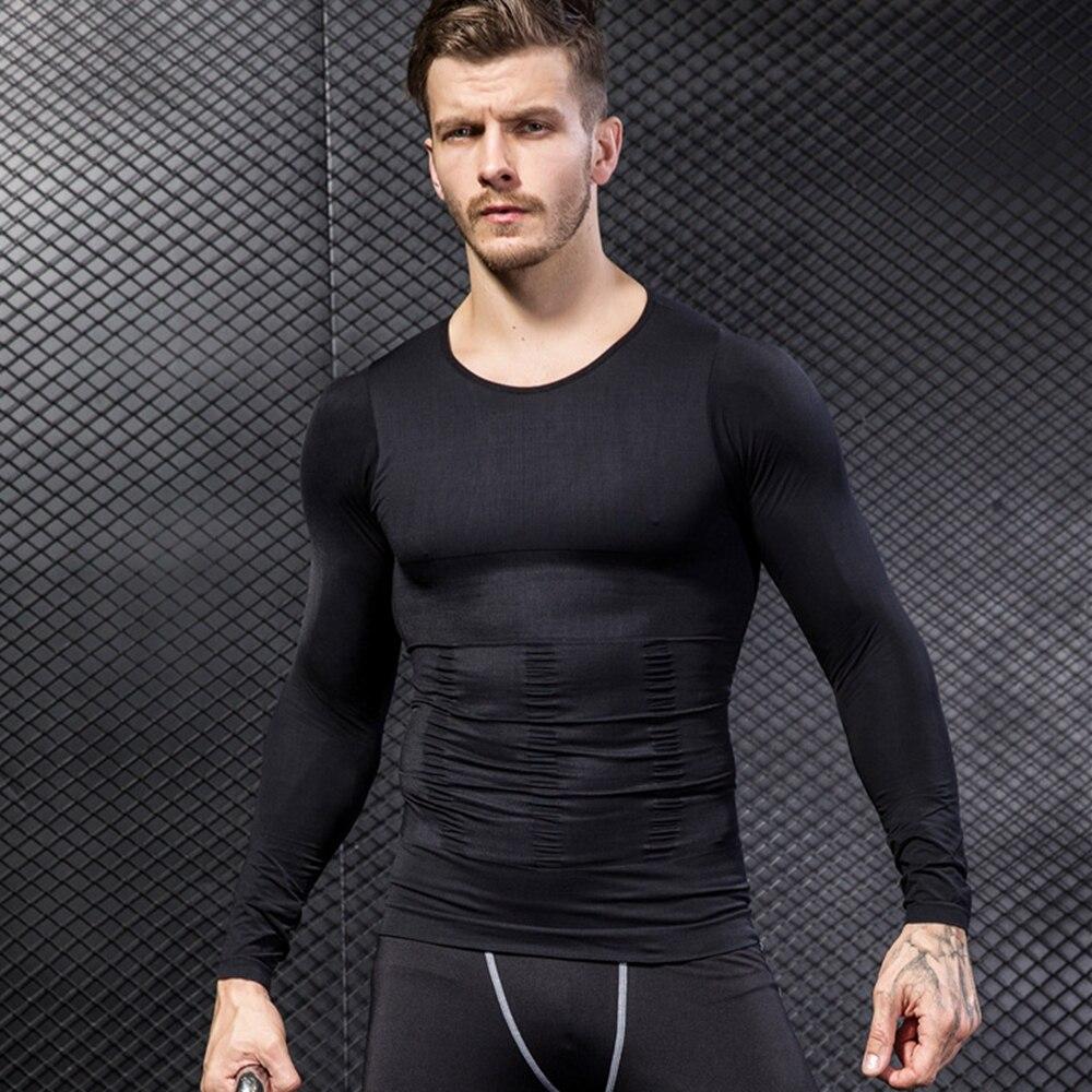 dfe0905214a4e Detail Feedback Questions about Men s body shapers long sleeves shirt  shapewear tummy control shaper seamless bodysuit men underwear thin on  Aliexpress.com ...