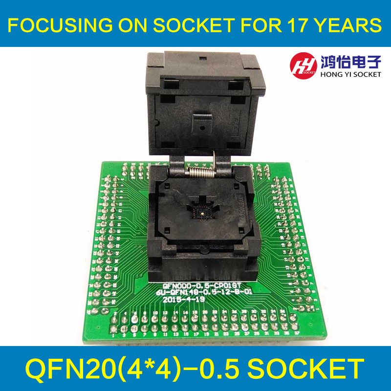 QFN20 MLF20 WLCSP20 to DIP20 Programming Socket Adapter Pin Pitch 0.5mm IC Body Size 4x4mm IC550-0204-009-G Test Socket