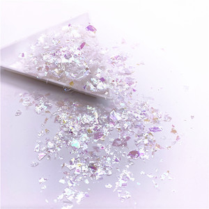 Image 3 - 20g/Pack Irregular Shell Paper Sequin DIY Nail Flakies Colorful Paillettes Glitter Nail Art Sequins for 3D Nail Art Decoration