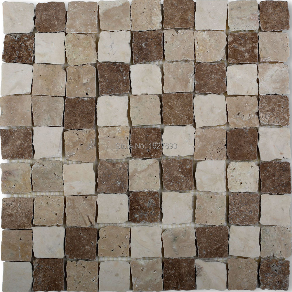 Mosaic bathroom floor tile picture more detailed picture about broken edge mixed color japan style marble mosaic tiles dailygadgetfo Image collections
