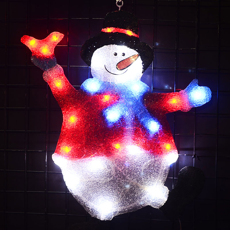 2D xmas snowman festival light - 20.5 in. Tall party light outdoor led christmas lights luces navidad exterior stylish christmas snowman embroidery festival beanie for men and women