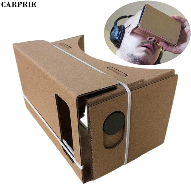 Carprie 6 дюймов DIY Google cardboard 3D VR Очки виртуальной реальности ДВП для Samsung для iPhone 6 s для смартфонов 4.7 дюймов